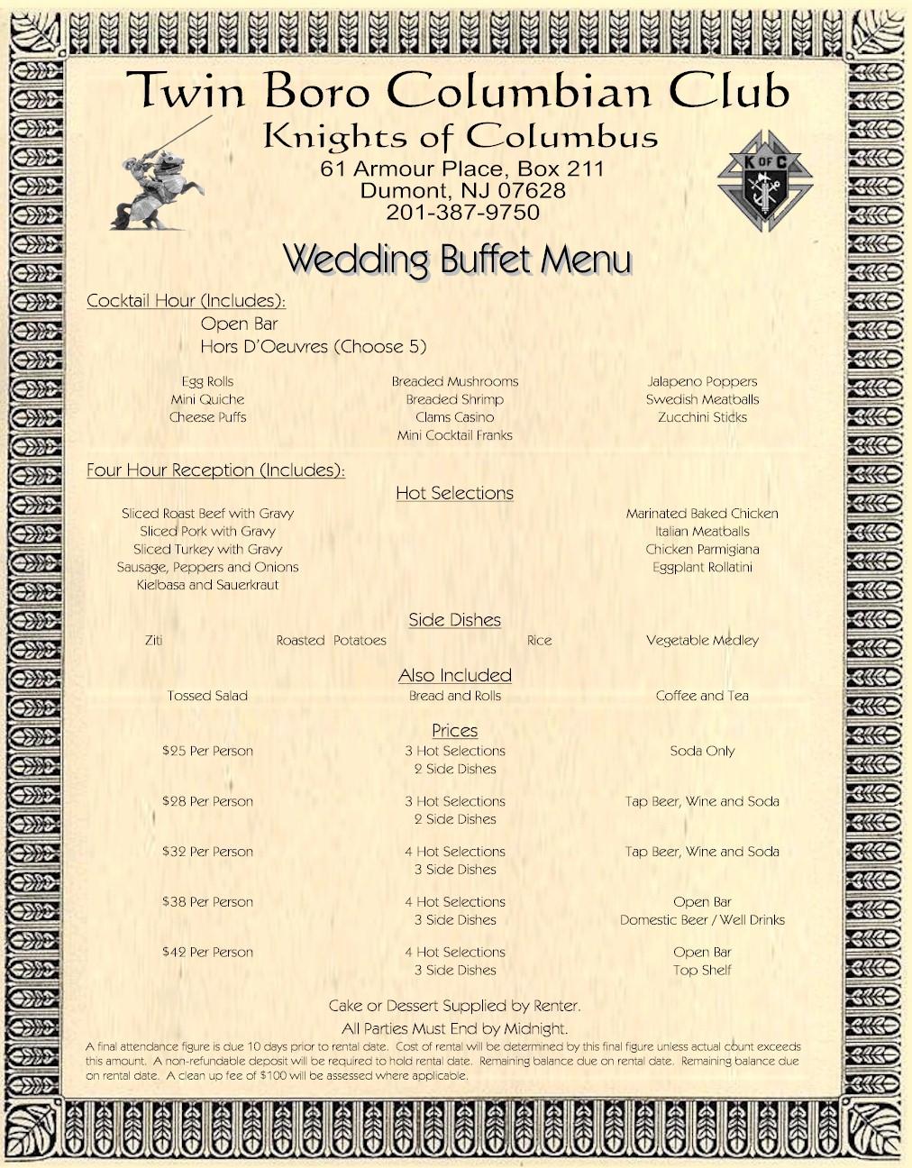 Wedding Buffets Wedding Buffet Menu And Buffet On Pinterest